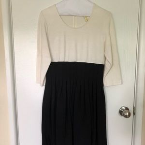 Calvin Klein Two-Tone Dress with Sleeves